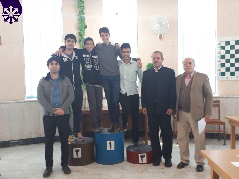 کسب مقام سوم مسابقات شطرنج ناحیه 4 آذرماه 98